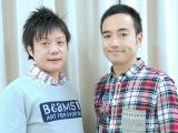 第3子が誕生したかもめんたるの岩崎う大(右) 左は相方の槙尾ユウスケ(C)ORICON NewS inc.