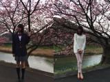 櫻子の15歳(左)から27歳(右)まで12年間を演じた小島梨里杏