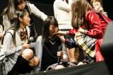 初の選抜入りを果たし、涙を流して喜ぶHKT48・松岡はな(C)AKS