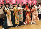 映画『ちはやふる』ひなまつり前夜祭女子会イベントに出席した(左から)Perfume、広瀬すず、上白石萌音 (C)ORICON NewS inc.