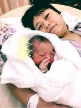 出産をブログで報告したまぁこ