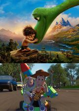 アーロとスポット(写真上)の関係はウッディとバズにそっくり (C) 2016 Disney/Pixar. All Rights Reserved.