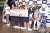 (左から)石田明、井上裕介、おばらよしお、まちゃあき、たかし、斎藤司 (C)ORICON NewS inc.