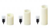 コンセント式LEDキャンドル『LUMINARA ピッグテール』 大きさは全部で3タイプ