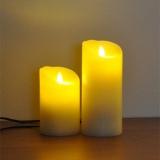 コンセント式LEDキャンドル『LUMINARA ピッグテール』 点灯イメージ