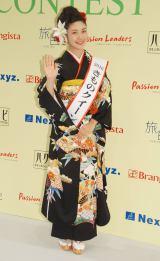 """日本一の""""着物美人""""19歳の女子大生・松田和佳さん (C)ORICON NewS inc."""