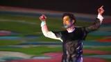 15日放送の日本テレビ系『世界!極限アート BEST20』で氷上プロジェクションマッピングに挑戦する高橋大輔 (C)日本テレビ