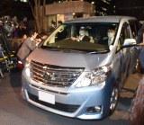 清原和博容疑者を乗せたとみられる車両=警視庁本部 (C)ORICON NewS inc.