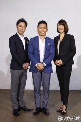 3人ともオリンピックメダリスト。柔道の野村忠宏(中央)は3大会連続金メダルの偉業を達成