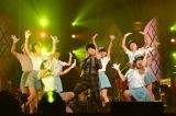 ダンサーとのパフォーマンスでも盛り上げた Photo/岸田哲平