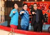 徳永ゆうき「函館慕情」発売記念イベントに出席した(左から)永野、徳永ゆうき、加藤和也氏
