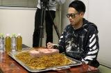 宮川大輔はアンドレ・ザ・ジャイアントの髪を再現した焼きそば(20人前)を完食できるのか?(C)関西テレビ