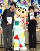 (左から)安田顕、しんのすけ、吉瀬美智子 (C)ORICON NewS inc.