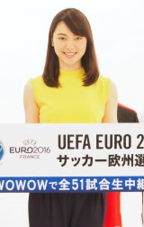 『UEFA EURO 2016 サッカー欧州選手権』の収録に臨んだ杉山セリナ (C)ORICON NewS inc.