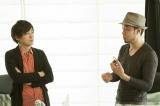 漫画家・松井優征(左)と書家・前田鎌利がそれぞれのクリエイティブを語り合った対談の様子(写真:逢坂 聡)