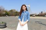 日本テレビ系朝の情報番組『ZIP!』新コーナー『あおぞらキャラバン』に登場する女性旅人のセレイナ・アンと相棒のそら (C)日本テレビ