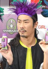 『SAMBAZON』新商品発売記念イベントに出席したパンサー・菅良太郎 (C)ORICON NewS inc.