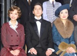 ミュージカル『グランドホテル』の取材会に出席した(左から)真野恵里菜、伊礼彼方、草刈民代 (C)ORICON NewS inc.