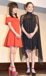 (左から)昆夏美、シルビア=舞台『コインロッカー・ベイビーズ』製作発表会見 (C)ORICON NewS inc.