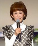 愛川欽也さんメモリアルコンサートを前に挨拶するうつみ宮土理 (C)ORICON NewS inc.