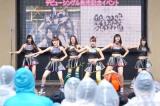 原駅ステージA(左から)染野里奈、牧野真鈴、磯部杏莉、伊藤貴璃、田谷菜々子、入江ひなた