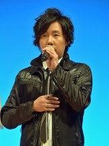 劇場版『遊☆戯☆王 THE DARK SIDE OF DIMENSIONS』(4月23日公開)完成披露舞台あいさつに登壇した日野聡 (C)ORICON NewS inc.