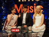TBSほかで4月19日スタートの新音楽番組『Good Time Music』(左から)TBSの笹川友里アナウンサー、及川光博とDream Ami (C)ORICON NewS inc.