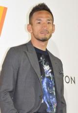 『空へ、海へ、彼方へ—旅するルイ・ヴィトン展』に来場した中田英寿氏 (C)ORICON NewS inc.