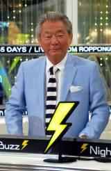 AbemaTV『みのもんたのよるバズ!』初回放送前に取材に応じたみのもんた (C)ORICON NewS inc.