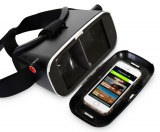 スマホ用VRヘッドセット『STEALTH-VR』スマートフォン装着図