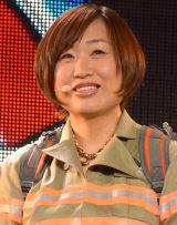 映画『ゴーストバスターズ』日本語吹替版主題歌発表会に出席した山崎静代 (C)ORICON NewS inc.