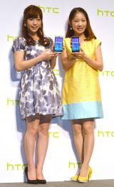 『Desireシリーズ』発売記者発表会に出席した(左から)大澤玲美、大渕愛子 (C)ORICON NewS inc.