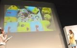 ふなっしーに囲まれる息子を公開した大渕愛子=『Desireシリーズ』発売記者発表会 (C)ORICON NewS inc.