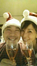 昨年のクリスマスを祝う川島なお美さんと鎧塚俊彦氏