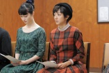 NHK総合で4月30日スタート『トットてれび』第1回より。徹子(満島ひかり)はNHKがテレビ放送開始のため専属俳優を募集していると知り受験する(C)NHK