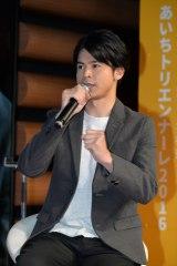 名古屋市内で開催されたdTVオリジナルドラマ『テラフォーマーズ/新たなる希望』配信記念イベントに出演した菅谷哲也