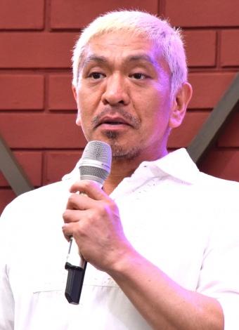 DVD『クレイジージャーニーVOL.2』発売直前イベントに出席した松本人志 (C)ORICON NewS inc.
