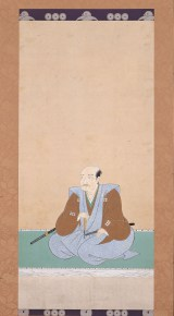 江戸東京博物館で開催中の特別展『真田丸』で展示中の『真田信繁画像』(江戸時代 高野山蓮華定院所蔵)