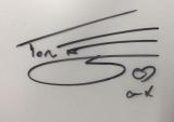 トム・フェルトンのサイン (C)ORICON NewS inc.