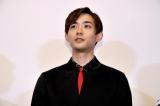 映画『シマウマ』の完成披露上映会に出席した竜星涼