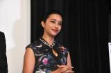 映画『シマウマ』の完成披露上映会に出席した高橋メアリージュン
