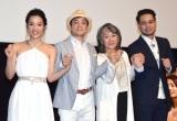 (左から)七海、川平慈英、奈良橋陽子監督、JAY'ED (C)ORICON NewS inc.