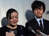 (左から)蜷川幸雄さんとの思い出を語った鈴木杏、勝地涼 (C)ORICON NewS inc.