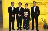 『第69回カンヌ国際映画祭』に出席した(左から)古舘寛治、深田晃司監督、筒井真理子、浅野忠信 (C)Kazuko  Wakayama