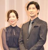 夫婦で舞台初共演となる(左から)真矢ミキ&西島数博 (C)ORICON NewS inc.