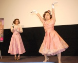 映画をイメージしたダンスも披露したキンタロー。=映画『ロイヤル・ナイト 英国王女の秘密の外出』の公開記念イベント (C)ORICON NewS inc.