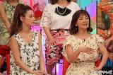 5月27日放送、フジテレビ系『幸せ追求バラエティ 金曜日の聞きたい女たち』で恋の失敗エピソードを語る華原朋美(右)