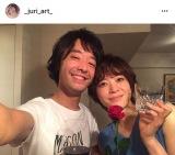 幸せそうな2ショットを公開した和田唱&上野樹里(写真は上野のインスタグラムより)