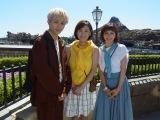 『東京ディズニーシー15 周年特別番組 7つの海 ときめき旅』に出演する(左から)タクヤ、高橋真麻、安田美沙子