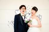 結婚を発表した『フテネコ』の作者・芦沢ムネト(左)と女優の馬渕史香